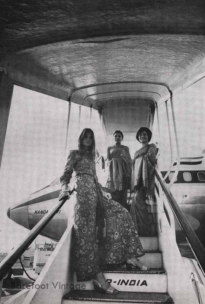 Vintage Editorials: Air India Scanned from Harpers Bazaar 1970 by Miss Booty Barefoot. Vintage Fashion researched and displayed in all it's glory!