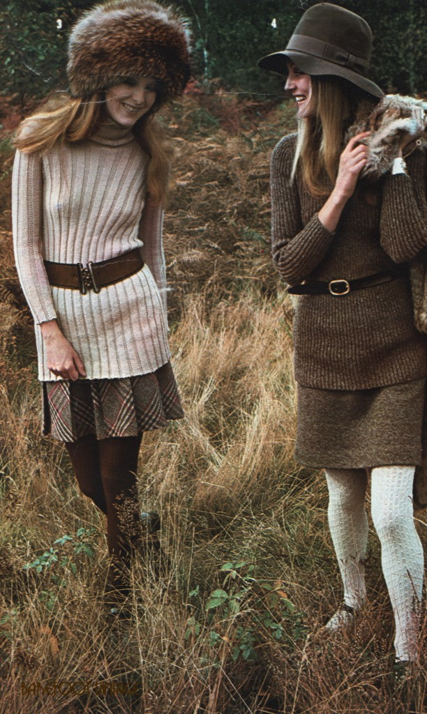 Vintage Editorials: Boulting's Winter Knits...Scanned from Elle Magazine Nov 1969 by Miss Booty Barefoot. Vintage Fashion visibly explored in all it's glory!