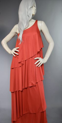 Red Anne Tyrrell One Strap Dress