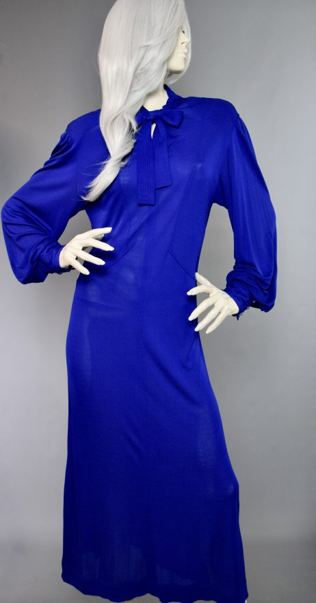 Blue Pussy Bow Dress