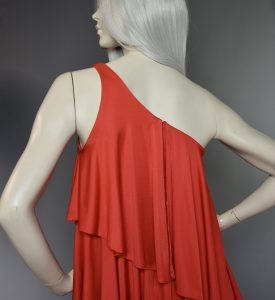 Anne Tyrrell One Strap Red Dress
