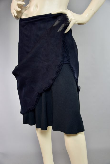 Chanel Moss Crepe Skirt