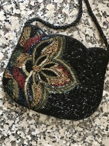beaded Jean Marlaix bag