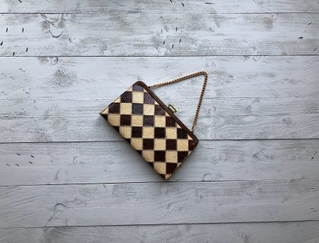 50s Leather Clutch