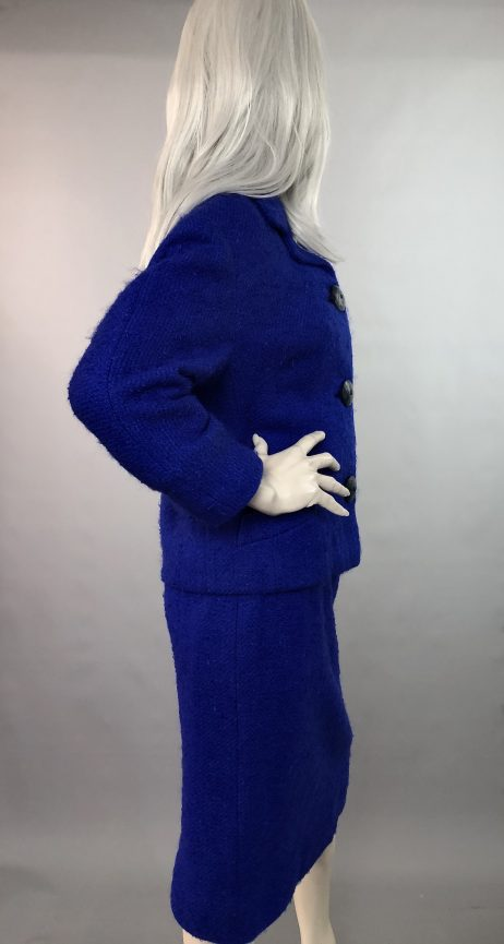 50s Boucle Wool Skirt Suit