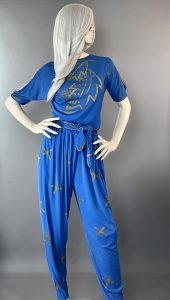 Front View - Anne Tyrrell Blue Pant Suit