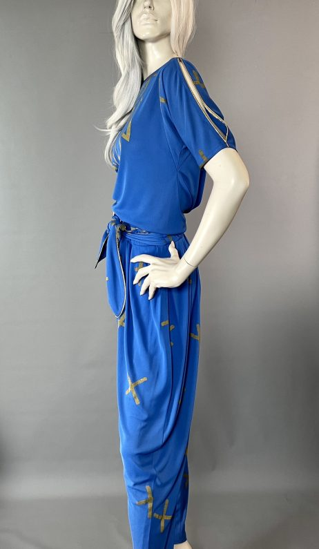 Anne Tyrrell Blue Pant Suit