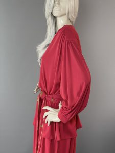 Anne Tyrrell Red Harem Pant Suit