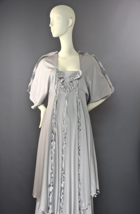 John Marks at Anne Tyrrell Silver Jelly Fish Maxi Dress